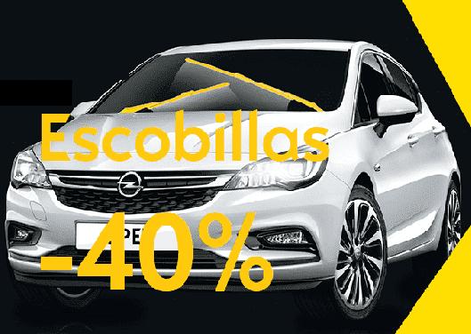 CAMBIA LAS ESCOBILLAS DE TU OPEL 40% dto