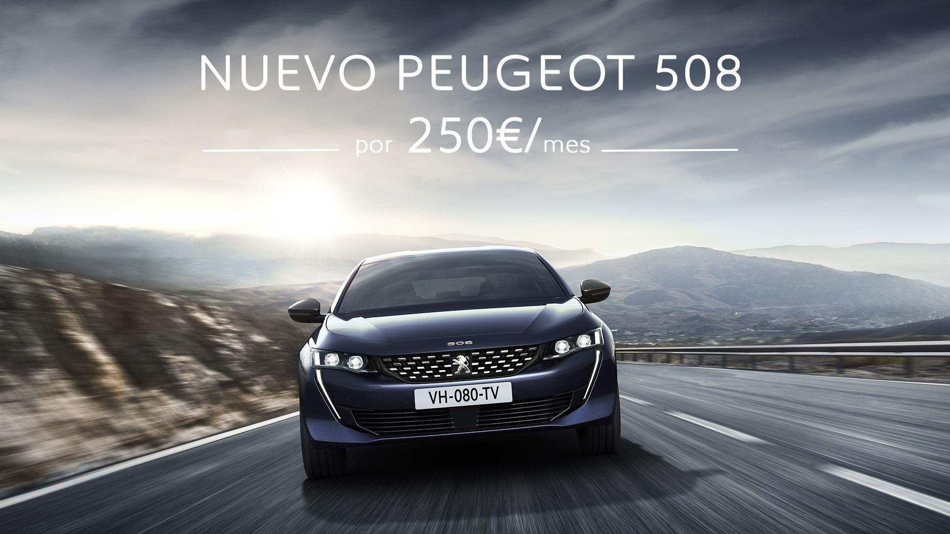 Conduce el nuevo Peugeot 508 por 250€/mes
