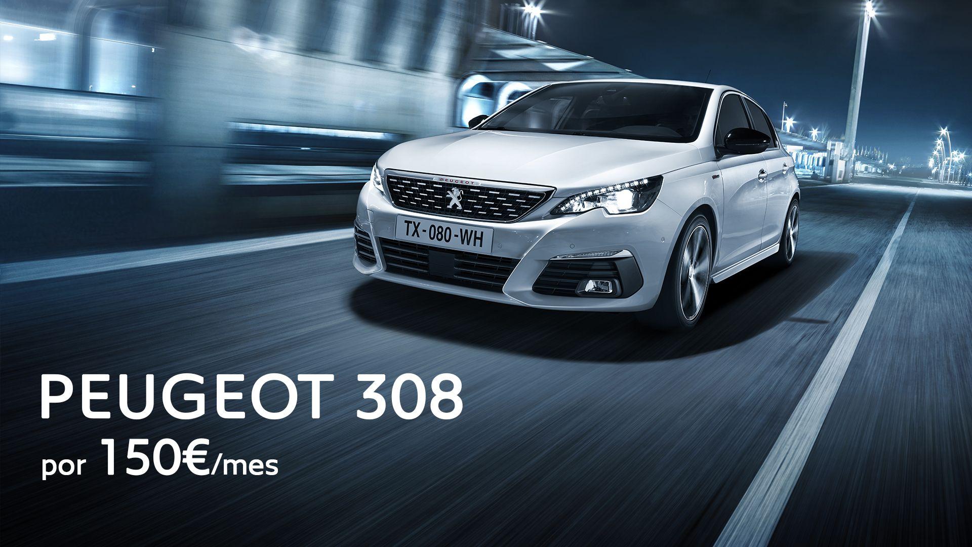 Vive la experiencia de conducir un Peugeot 308 por 150€/mes