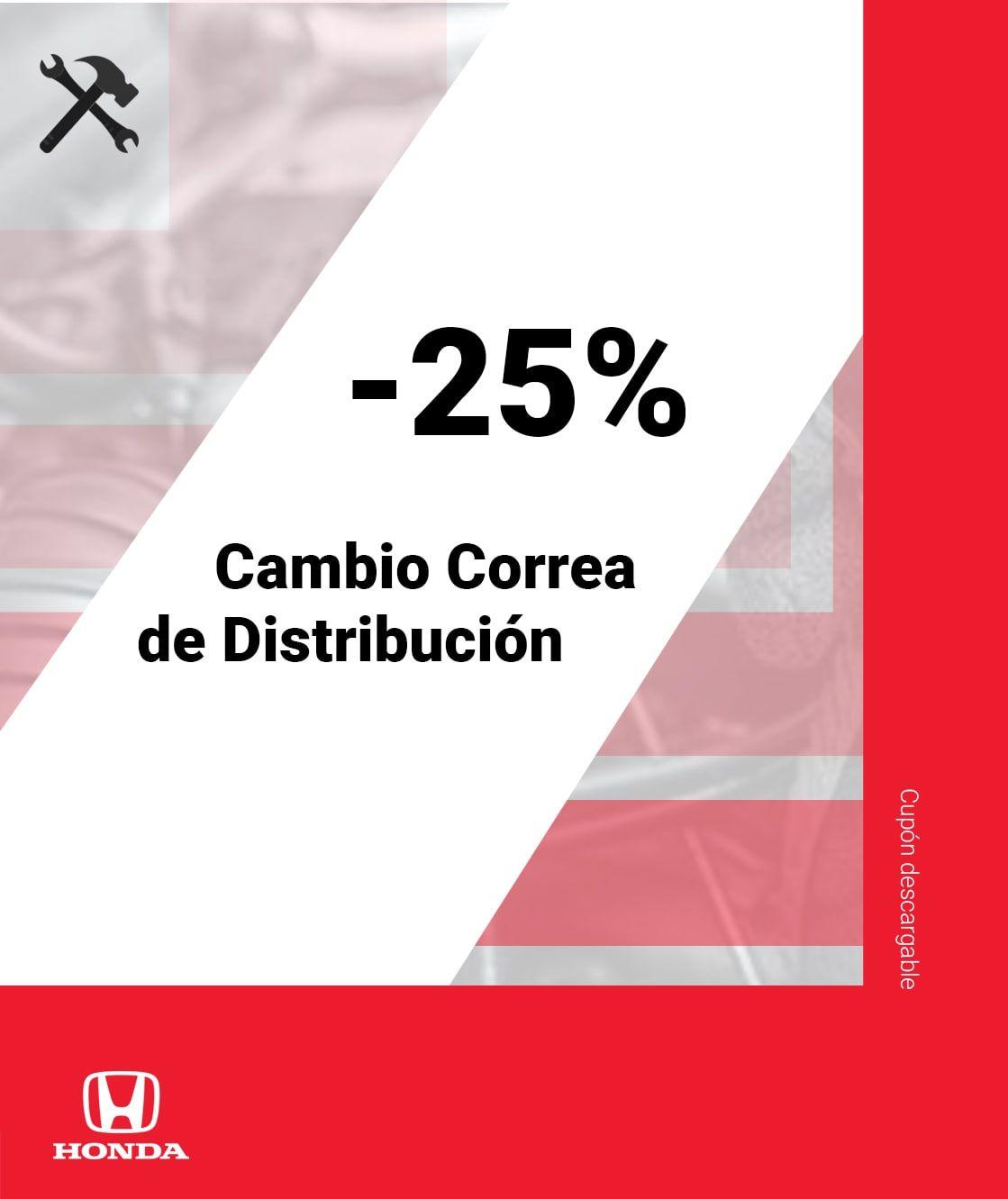 ¡CAMBIO CORREA DISTRIBUCIÓN 25% DTO!