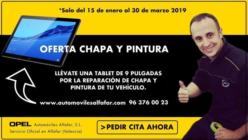 Repara tu vehículo de chapa y pintura y llévate una tablet de 9″