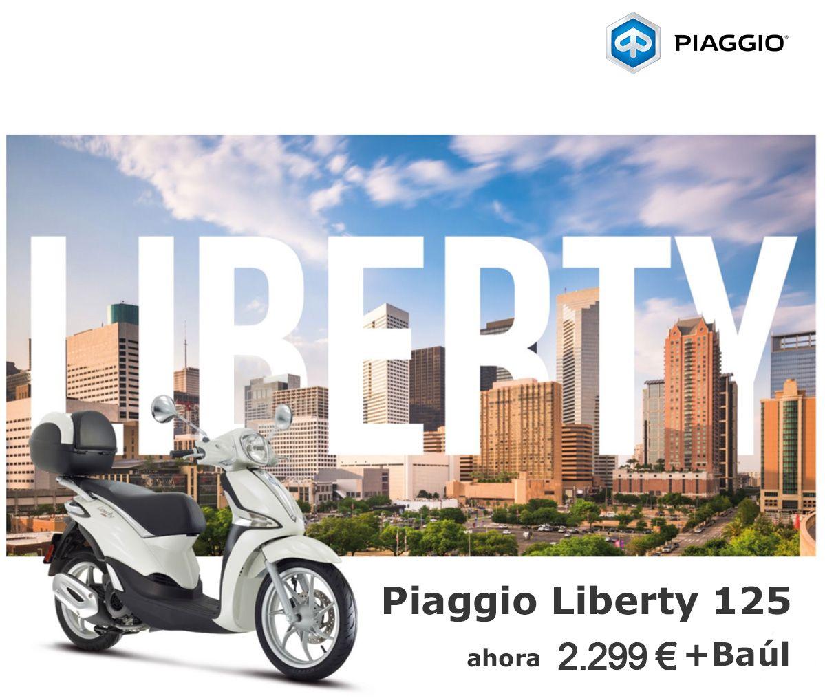 Elegancia y seguridad para tu día a día con la Piaggio Liberty por sólo 2.299€