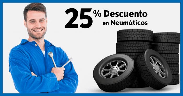 25% Descuento en Neumáticos
