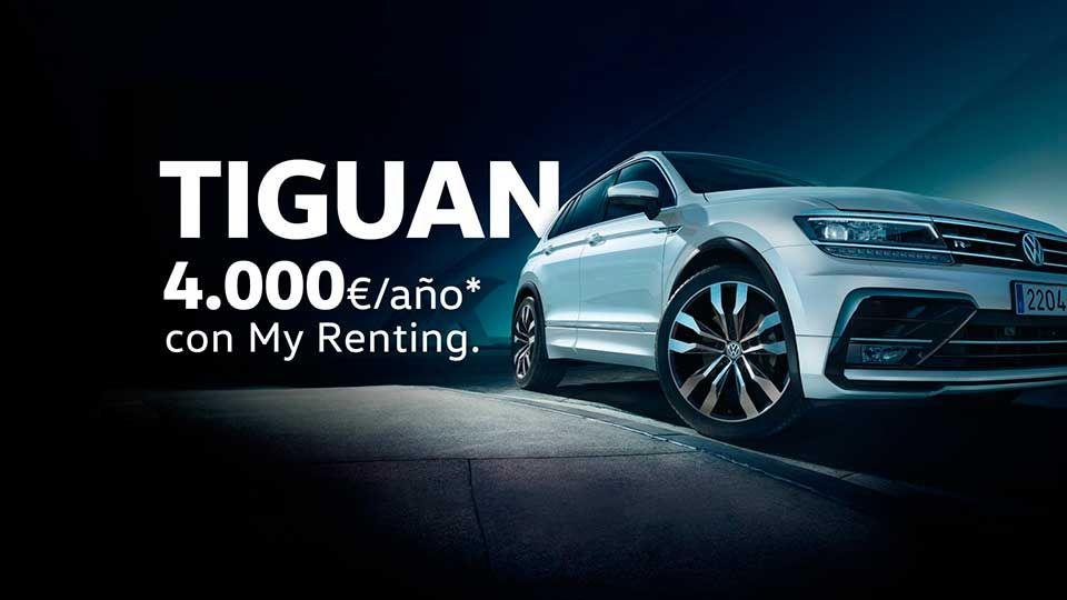 Tiguan, tecnología de vanguardia por solo 4.000€/año