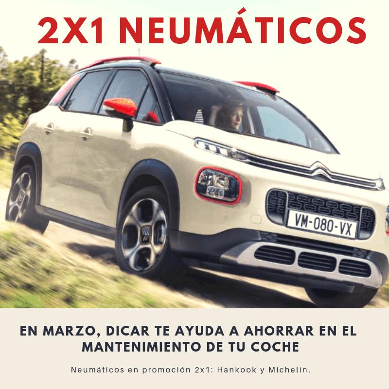Promoción 2x1 neumáticos Hankook y Michelin