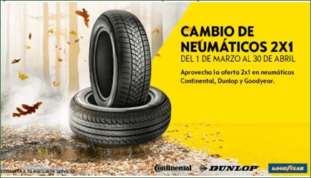 Cambio de Neumáticos 2X1