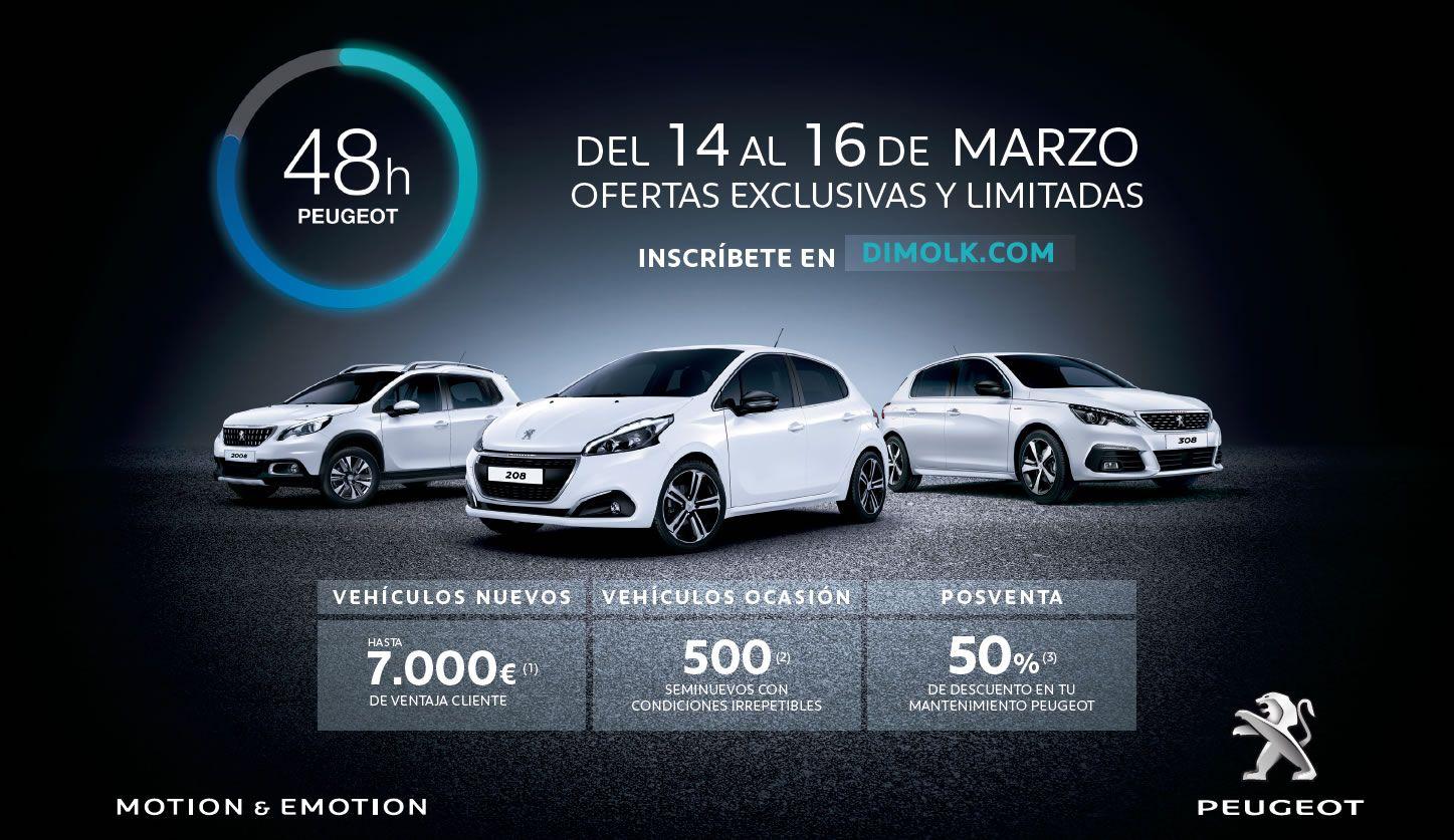 Oferta del 50% en Mantenimiento con las 48 horas Peugeot Dimolk