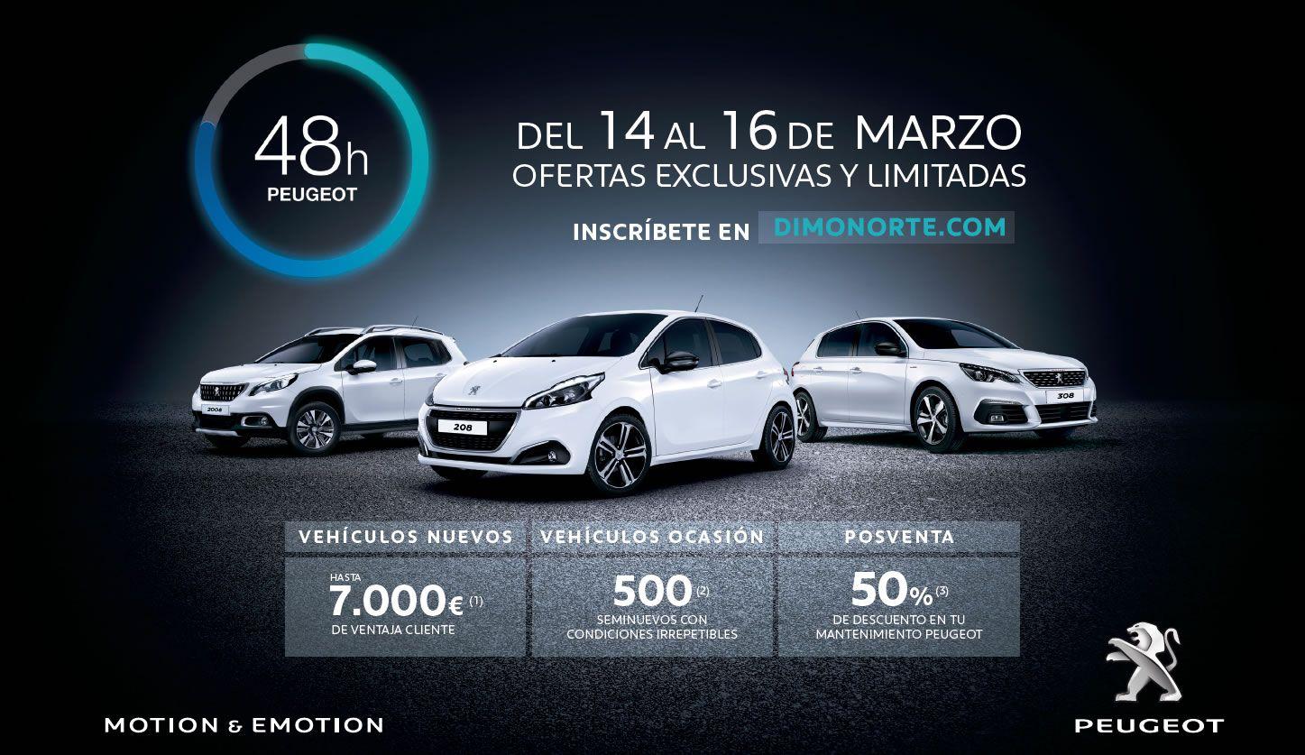 Oferta del 50% en Mantenimiento con las 48 horas Peugeot Dimonorte