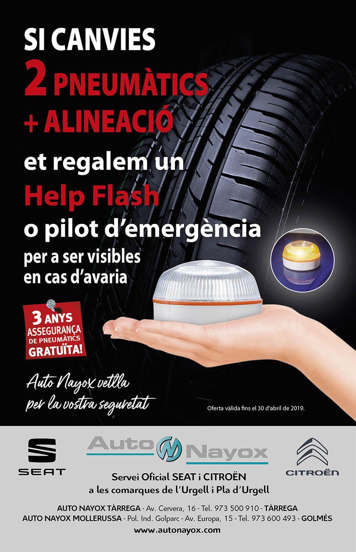 CANVIA 2 PNEUMÀTICS + L'AL.LINEACIÓ I ET REGALEM UN HELP FLASH