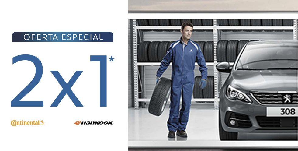 2x1 en neumáticos CONTINENTAL y HANKOOK durante marzo y abril