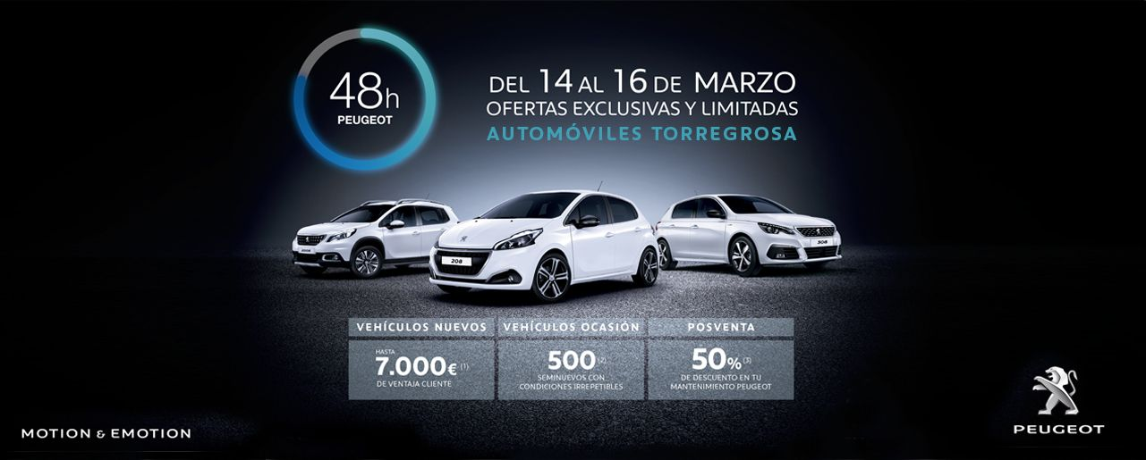 48 HORAS PEUGEOT EN AUTOMÓVILES TORREGROSA