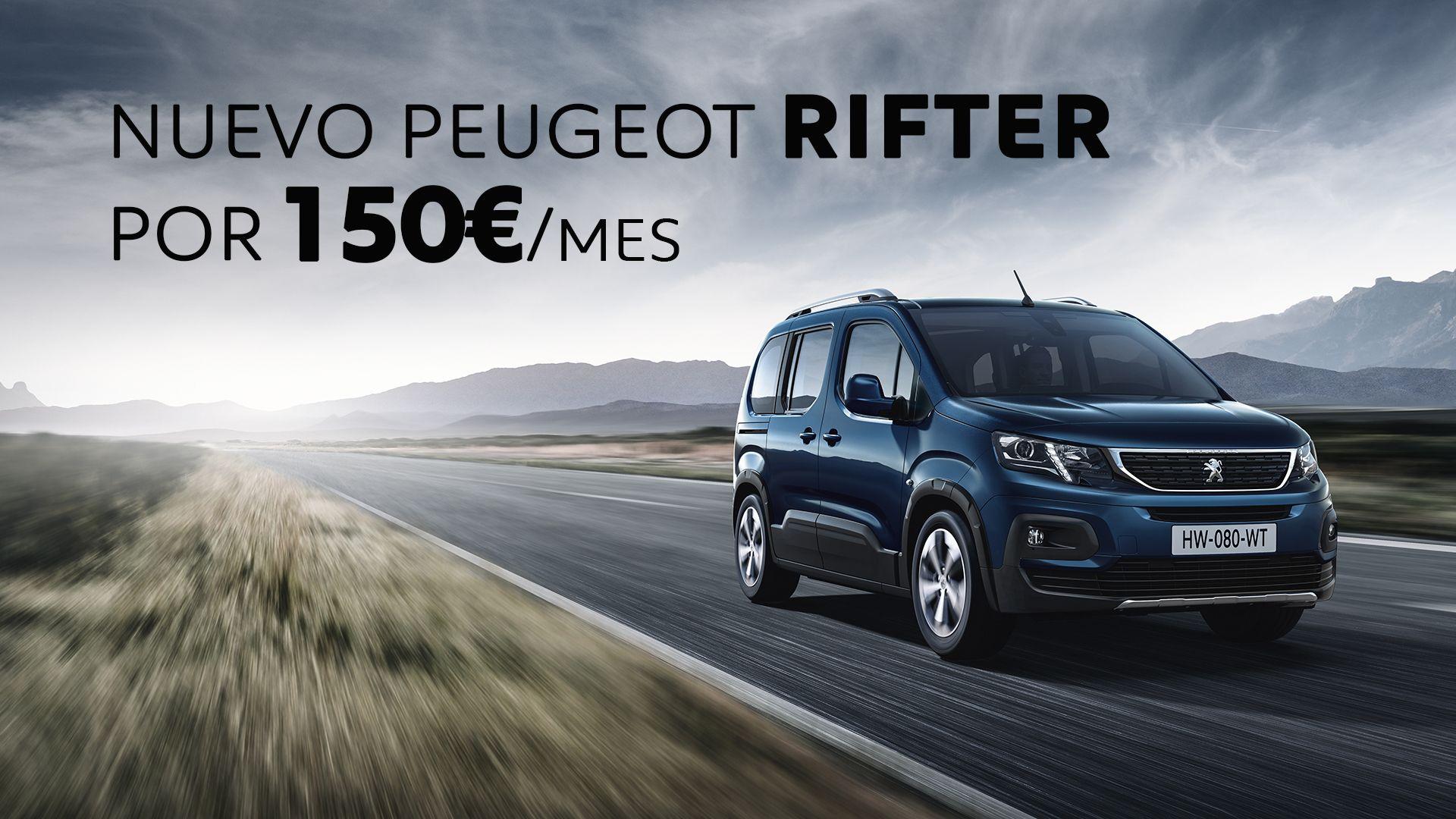 Atrévete a conducir el nuevo Peugeot Rifter por 150€/mes y TRES años de garantía