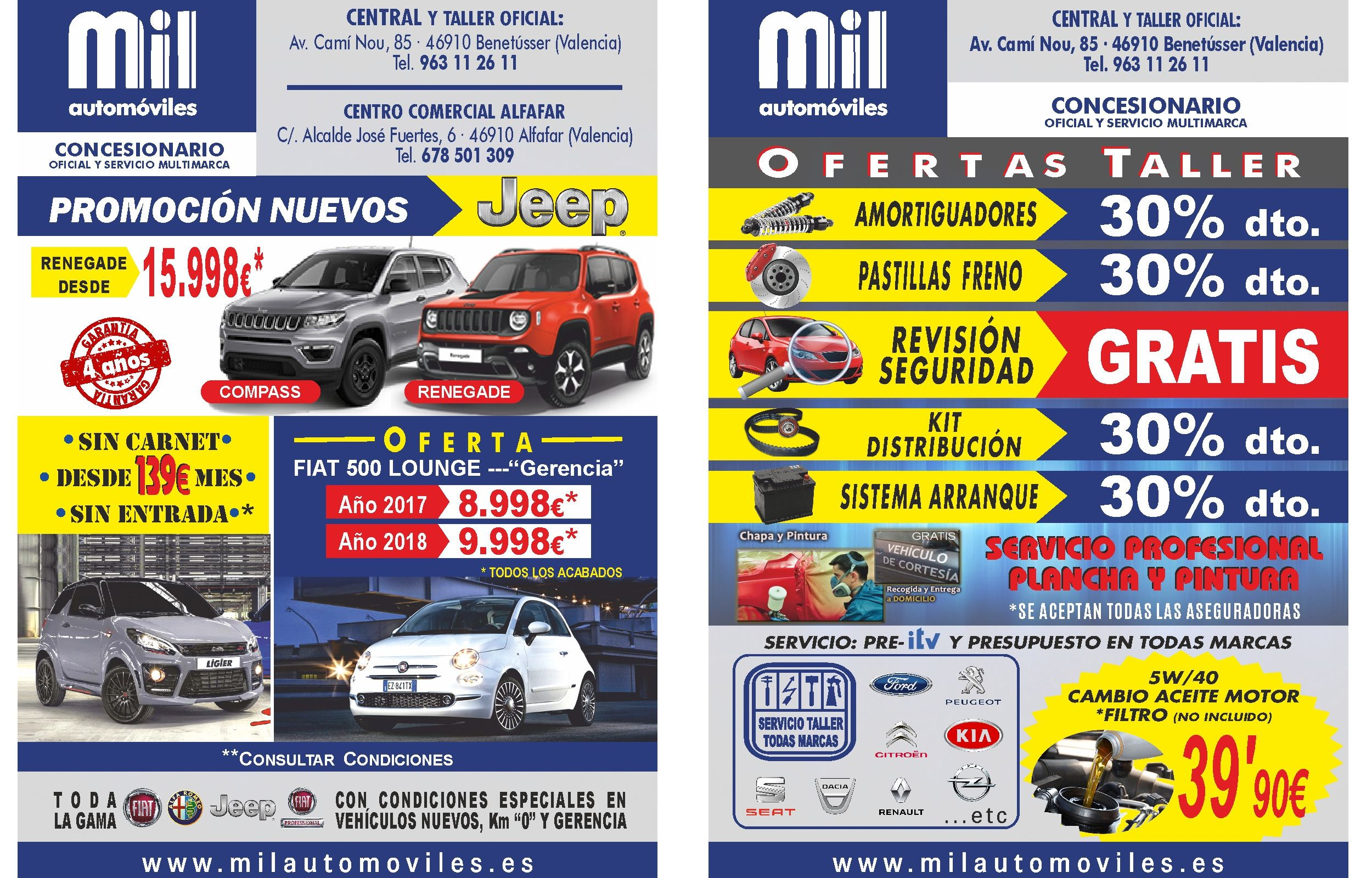 Promociones Vehículos Nuevos y Ofertas de taller