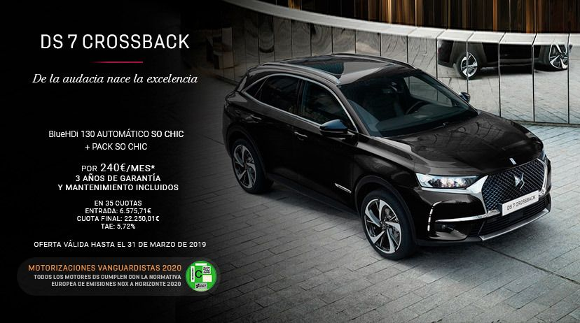 DS 7 CROSSBACKBlueHDi 130 Automático SO CHIC + Pack SO CHIC