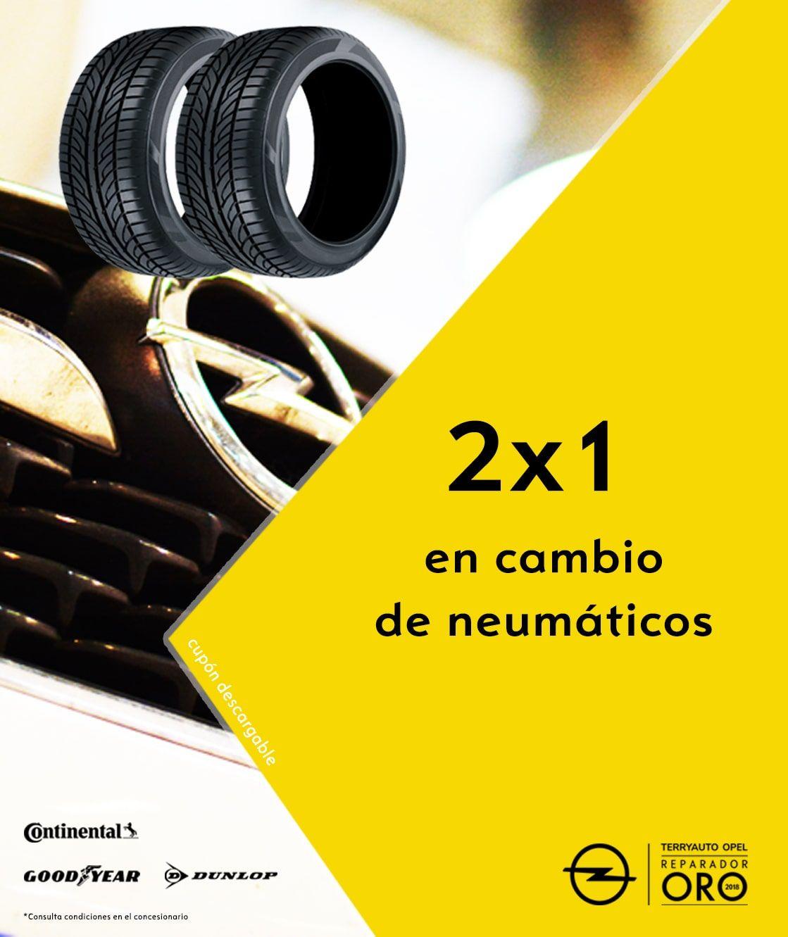 ¡2x1 en CAMBIO DE NEUMÁTICOS!