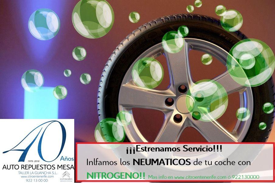 A partir de ahora solicitamos inflar los neumáticos de tu coche con NITRÓGENO!! Es la opción mas rentable, os detallamos un argumento.