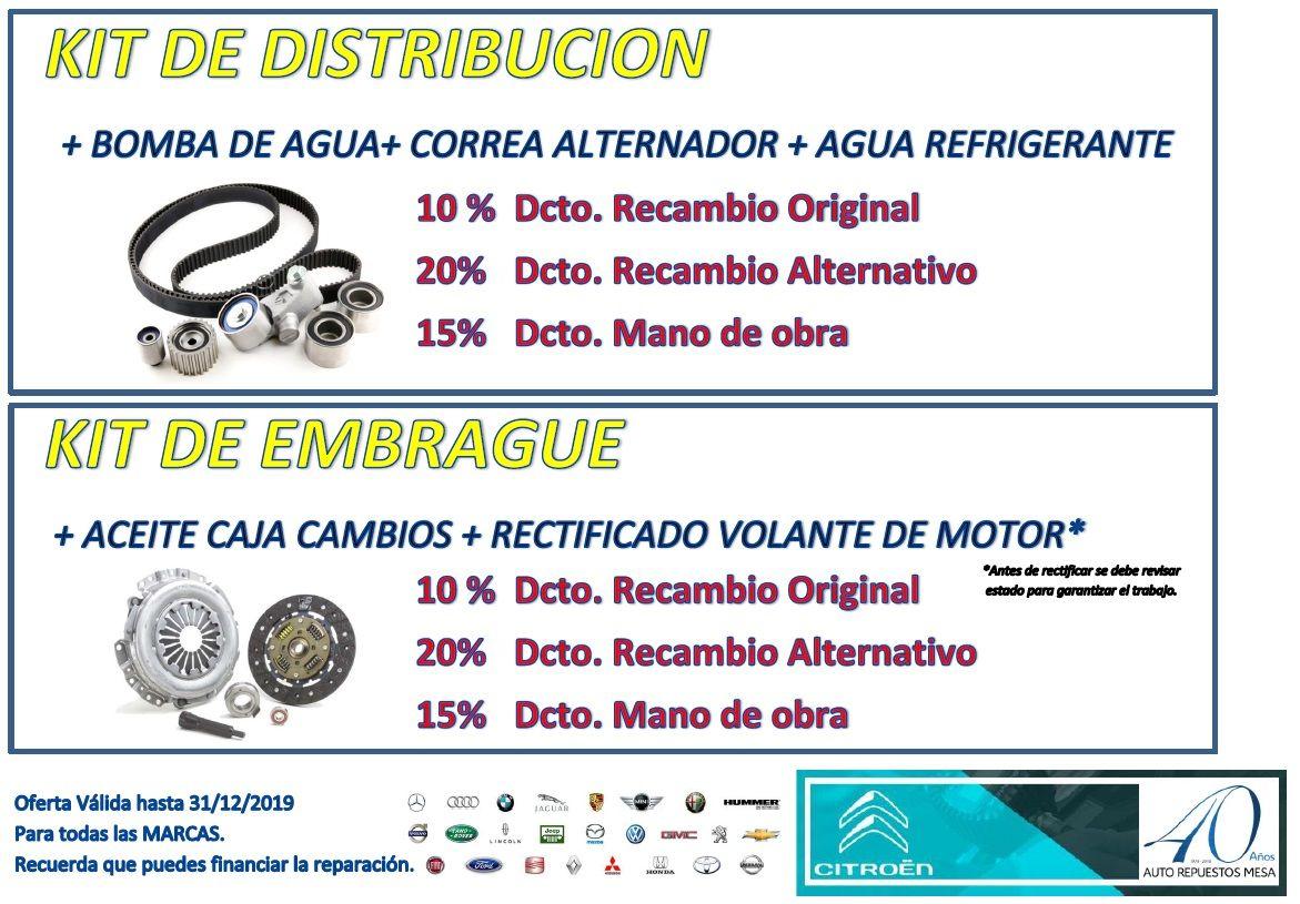 Recuerda nuestra GRAN PROMOCIÓN en sustitución  Kit distribución y sustitución Kit Embrague, para todas las marcas!!!