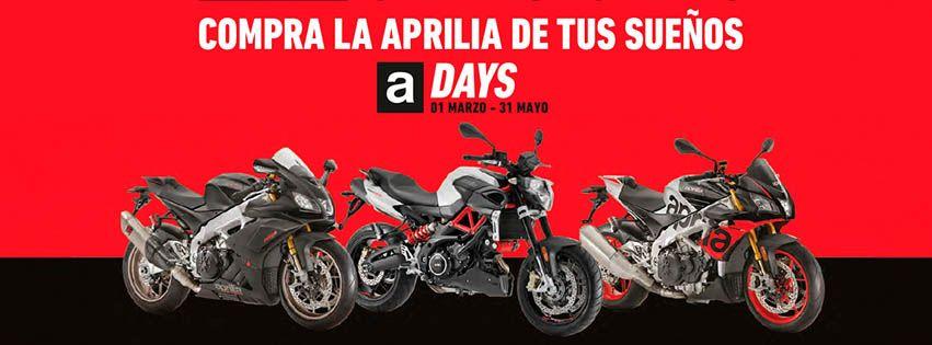 Del 1 de marzo al 31 de mayo disfruta de las ventajas de los Aprilia Days.
