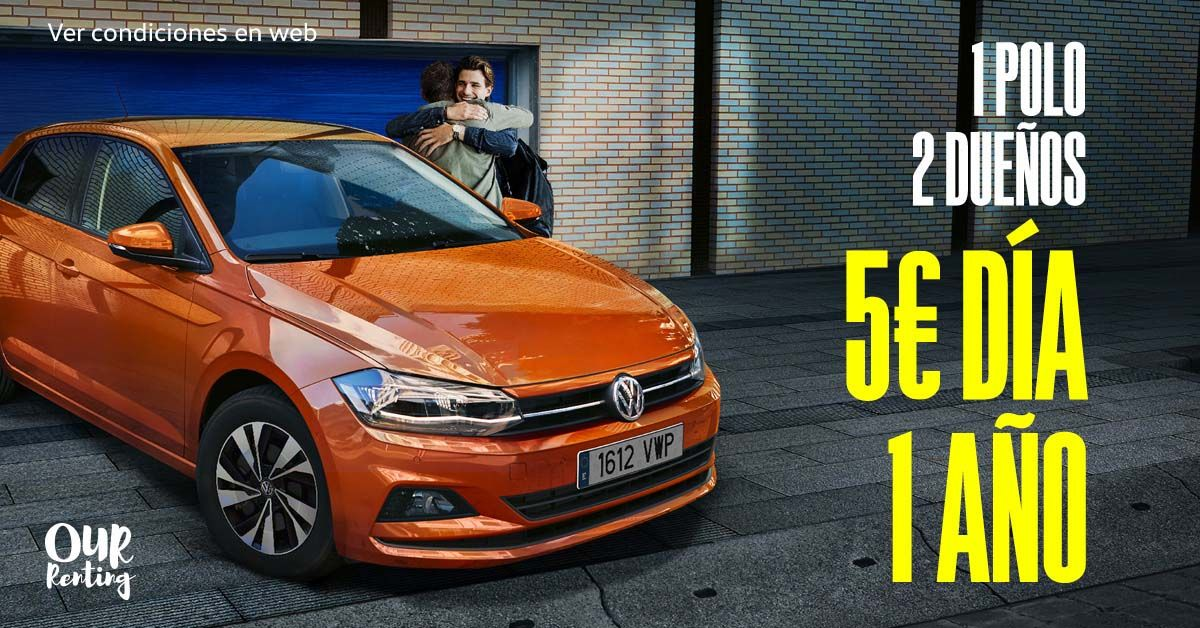 Nuevo Volkswagen Polo por 5€/día con Our Renting