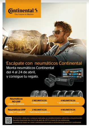 Escápate con Neumáticos Continental