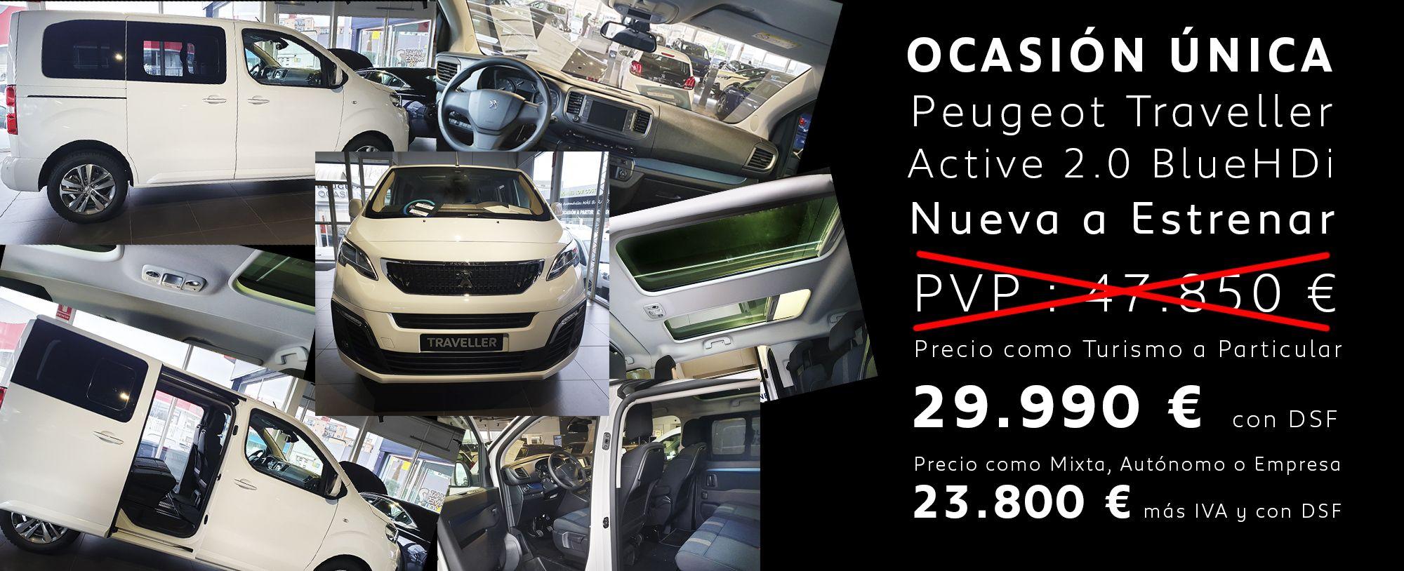 OCASIÓN ÚNICA Peugeot Traveller Active 2.0 BlueHDi Nueva a Estrenar 23.800 € más IVA y con DSF