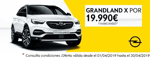 OPEL GRANDLAND X 1.2T 96KW (130CV) POR 19.990€ FINANCIANDO* CON 4.000€ DE EQUIPAMIENTO.