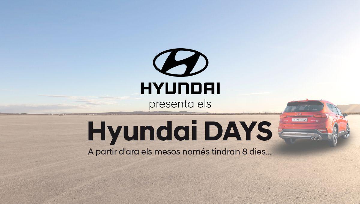 Només 8 dies, només 58 cotxes. Només als Hyundai DAYS d'Augusta Car.