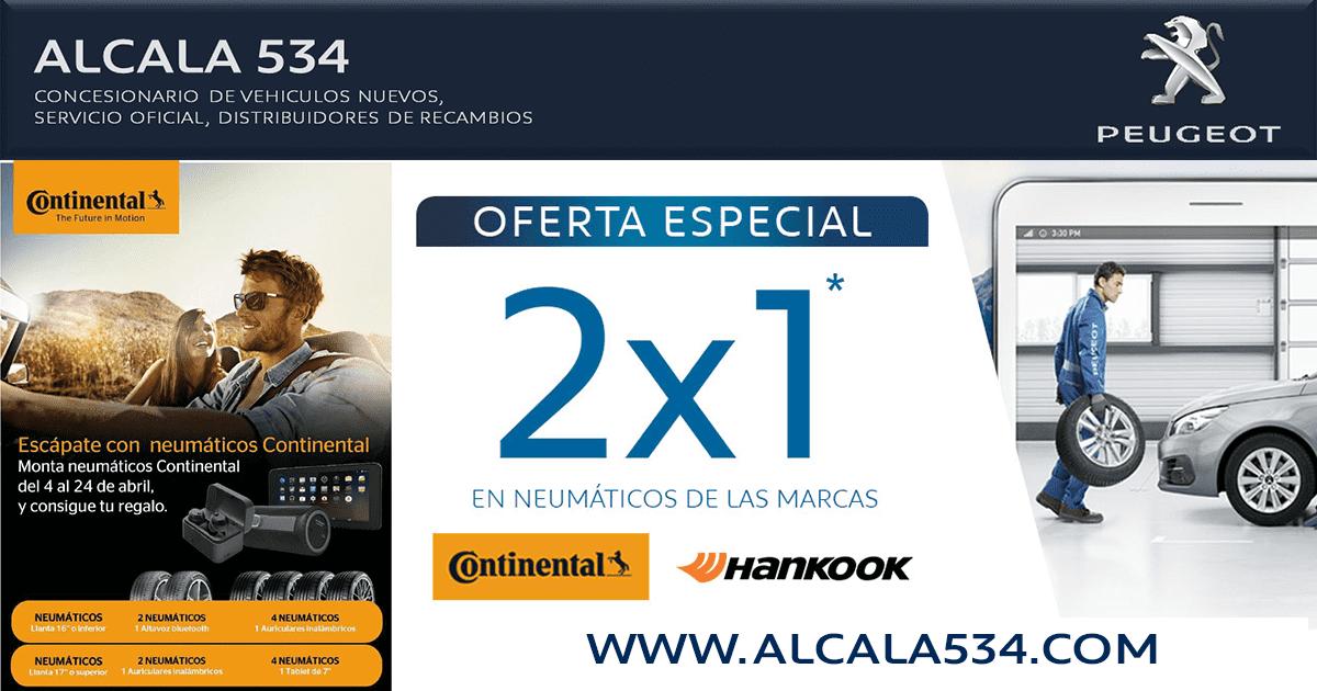 2x1 en Neumáticos Continental - Consigue un Altavoz Bluetooth