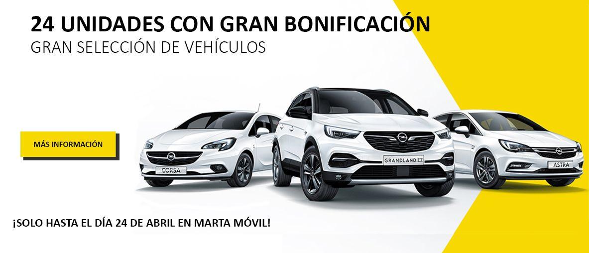 Bonificación de vehículos Opel