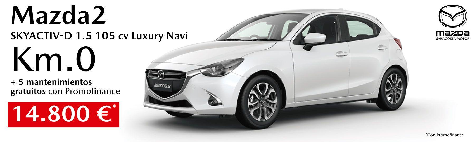 Mazda2 SKYACTIV-D 1.5 105 CV Luxury Navegador km.0 14.800 €