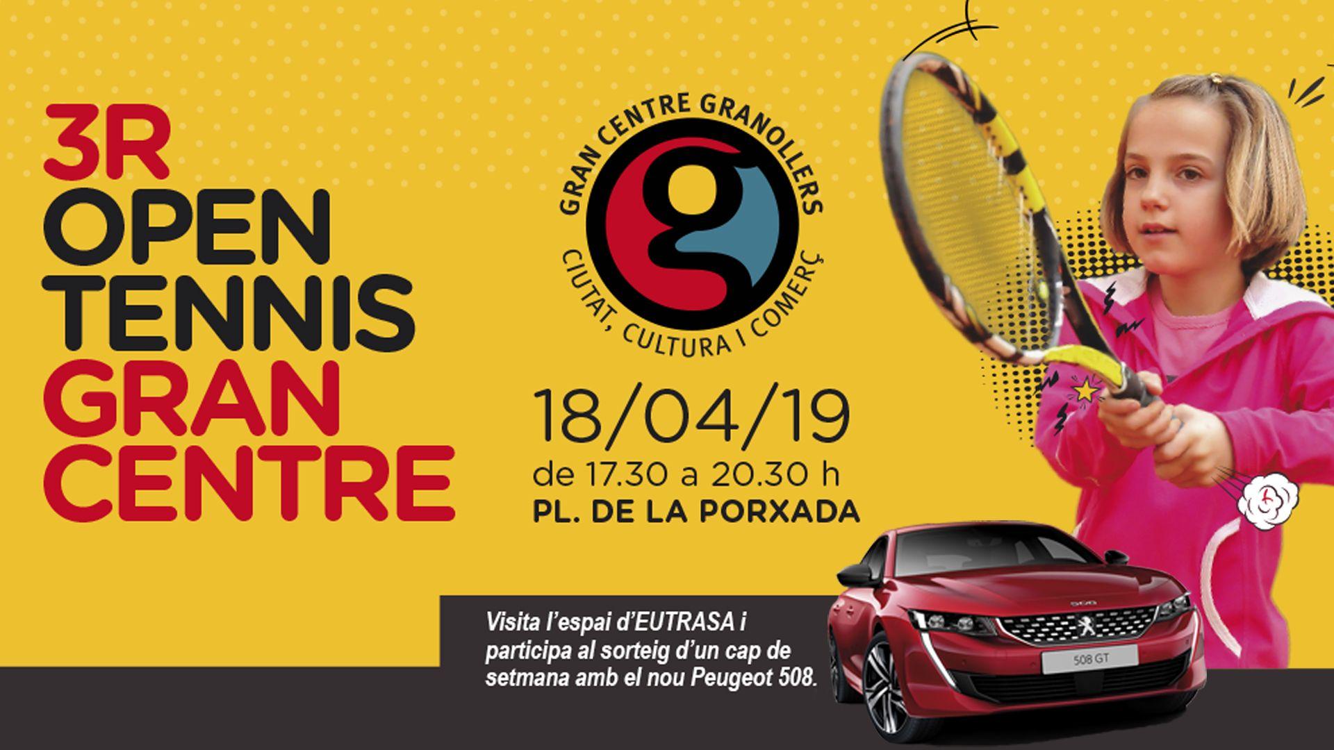 Vine a la tercera edició Open Tennis Granollers 2019