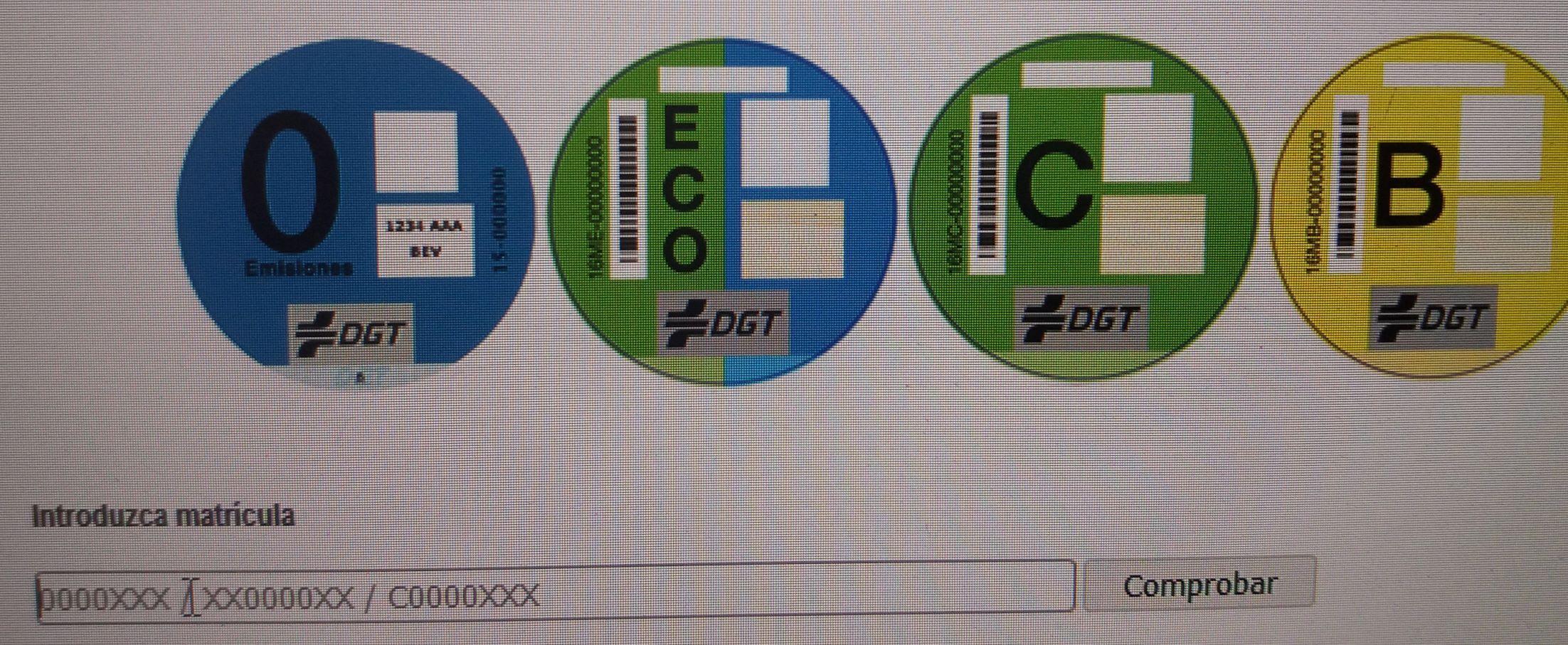 Etiqueta medioambiental para su vehículo.