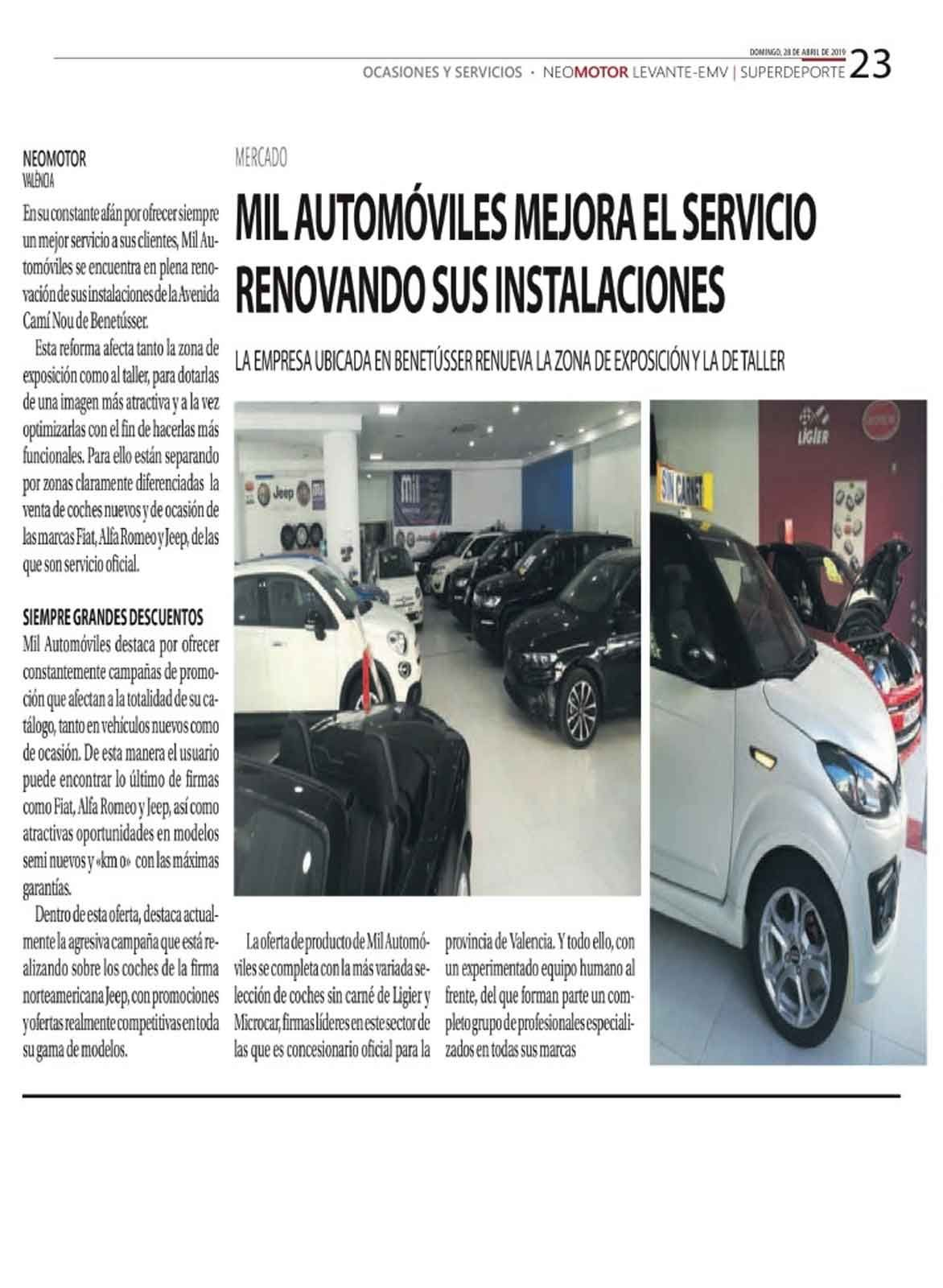 Milautomóviles mejora el servicio renovando sus instalaciones