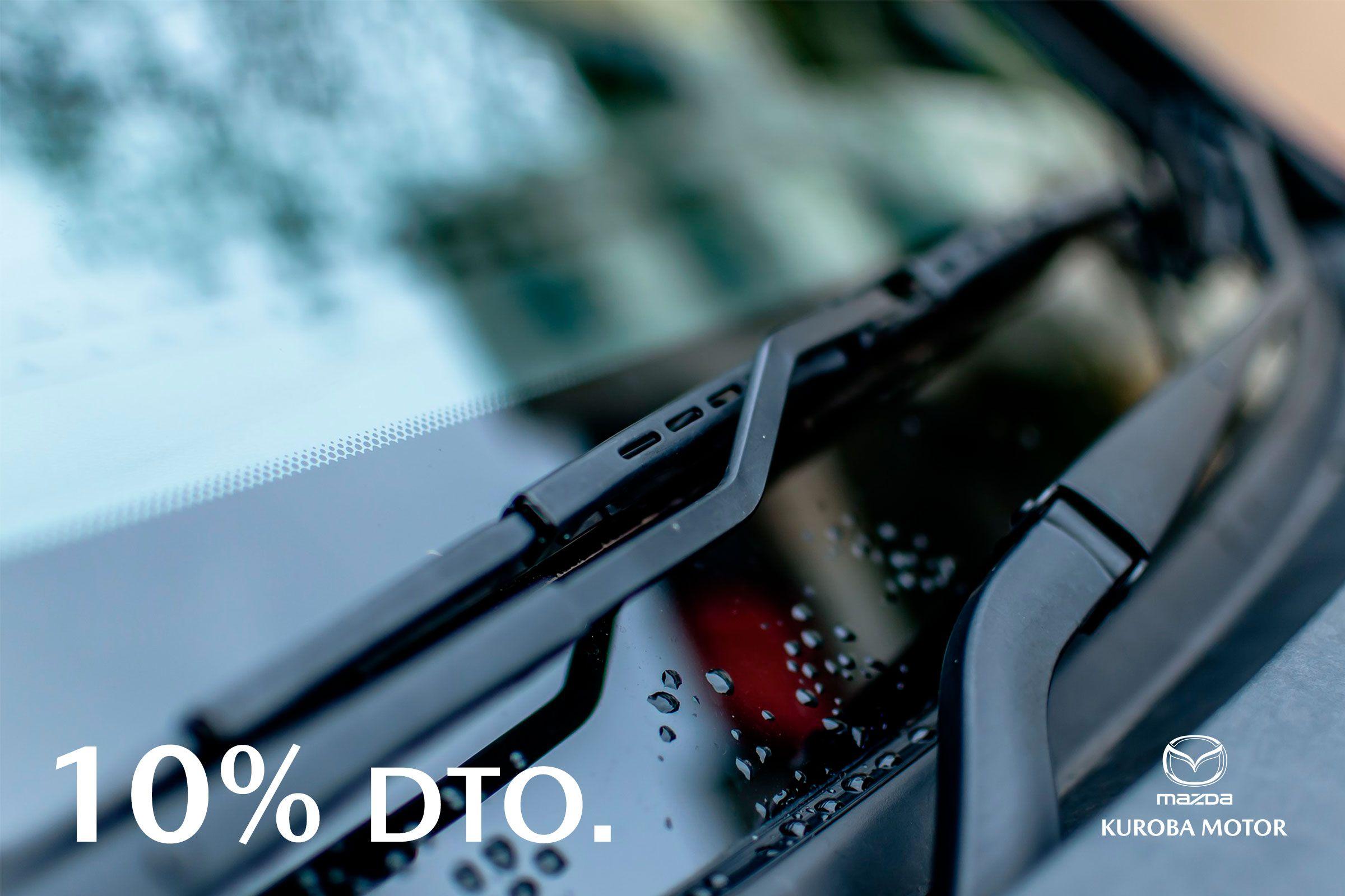 Obtenga un 10% de dto. al cambiar las escobillas de su vehiculo