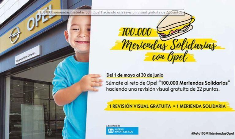100.000 MERIENDAS SOLIDARIAS CON OPEL