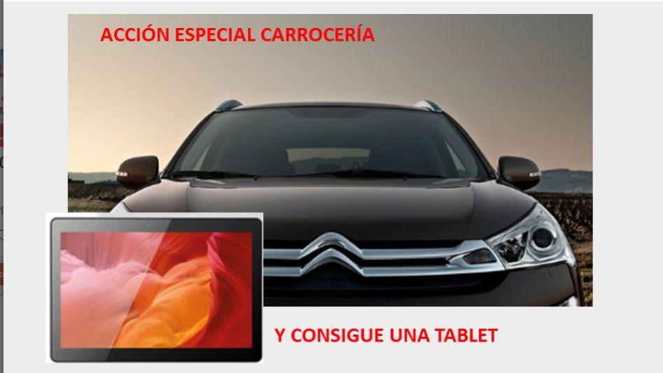 REGALO TABLET, REPARACION CARROCERIA