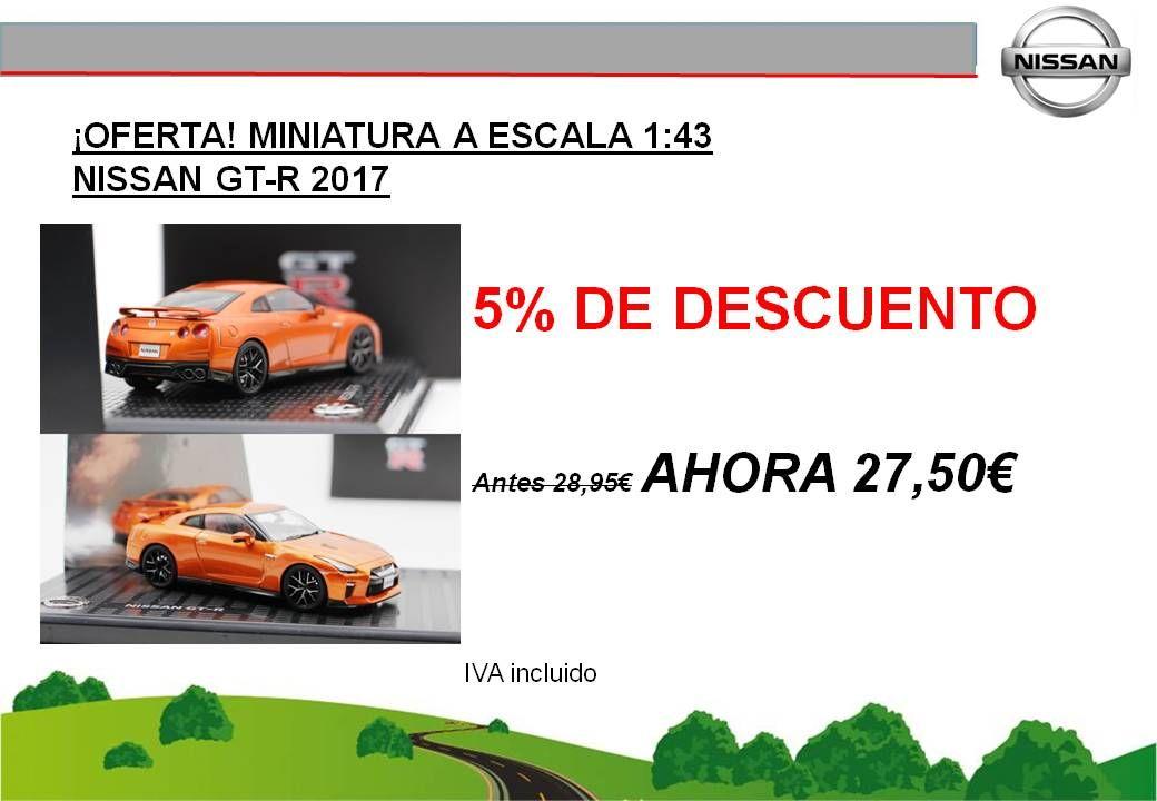 ¡OFERTA! MINIATURA A ESCALA 1:43 NISSAN GT-R 2017 - 27,50€