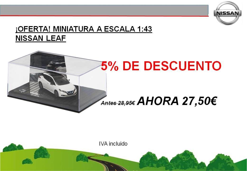 ¡OFERTA! MINIATURA A ESCALA 1:43 NISSAN LEAF - 27,50€