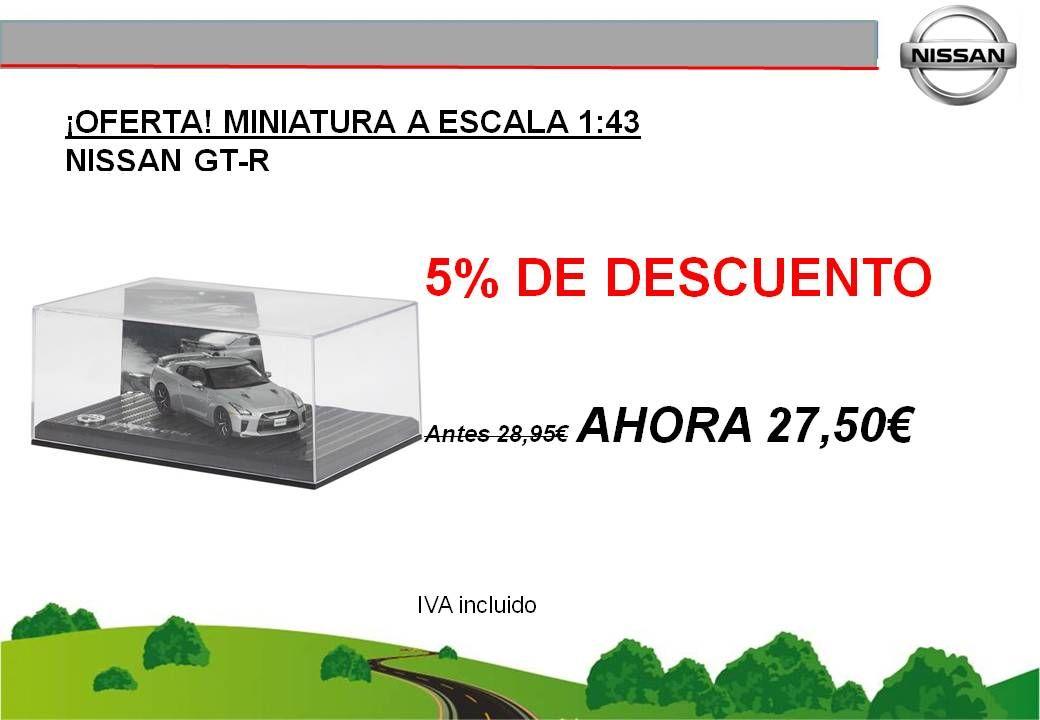 ¡OFERTA! MINIATURA A ESCALA 1:43 NISSAN GT-R - 27,50€