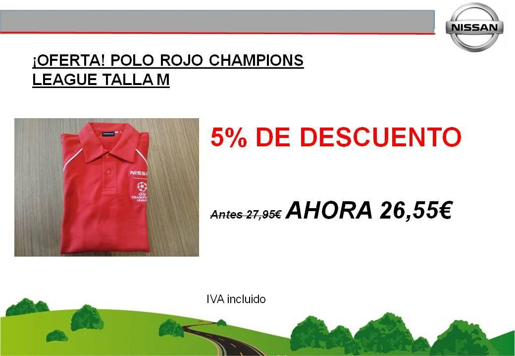 ¡OFERTA! POLO ROJO NISSAN CHAMPIONS LEAGUE TALLA M - 26,55€