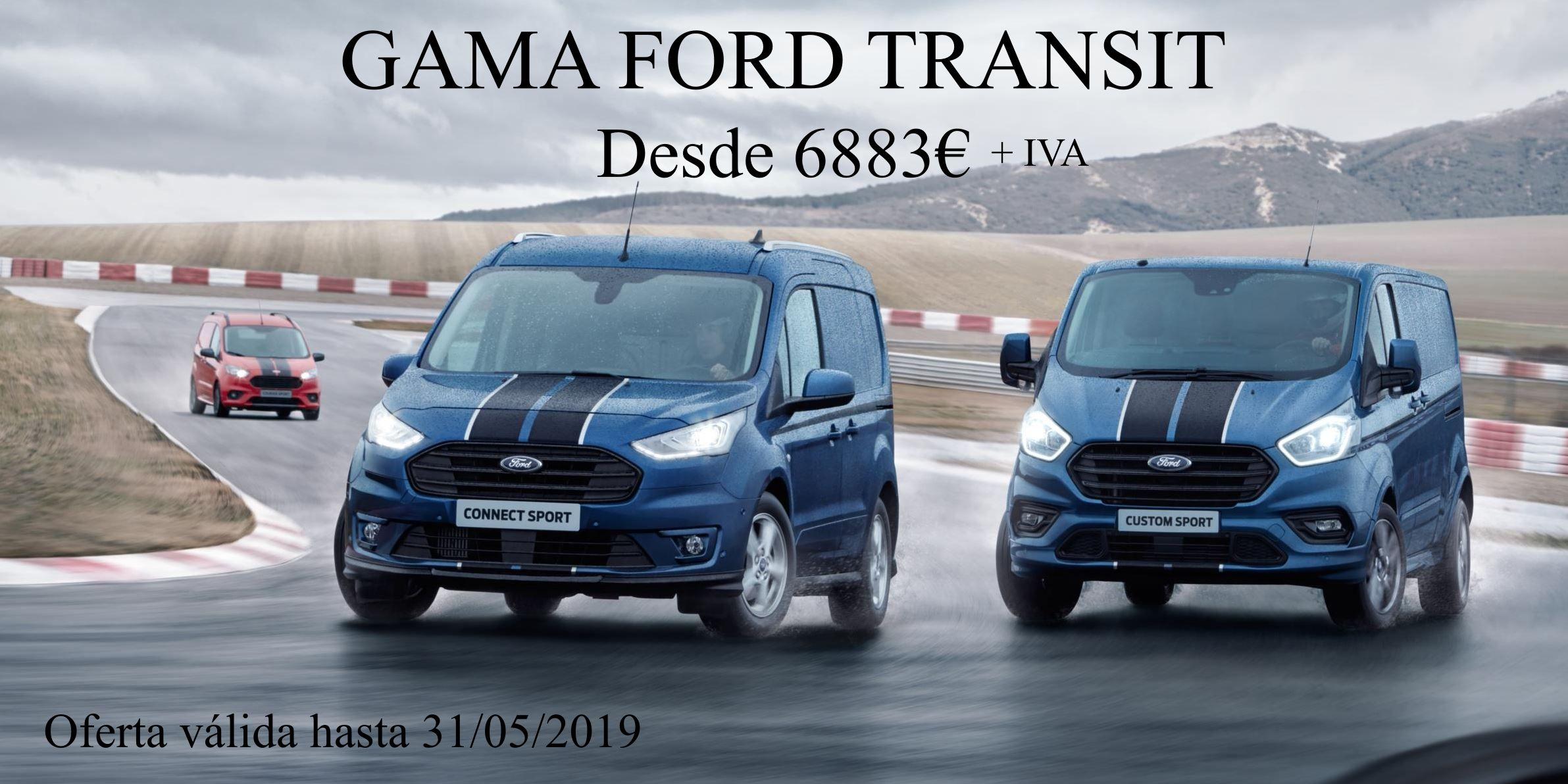 GAMA FORD TRANSIT DESDE 6883€