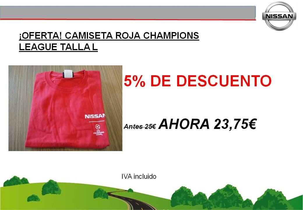 ¡OFERTA! CAMISETA ROJA NISSAN CHAMPIONS LEAGUE TALLA L - 23,75€