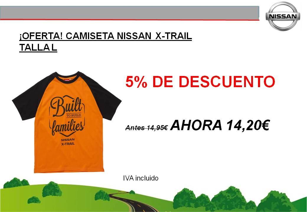 ¡OFERTA! CAMISETA NISSAN X-TRAIL TALLA L - 14,20€