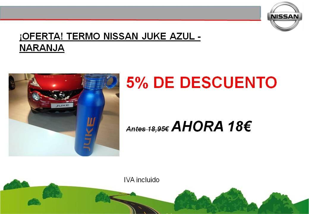 ¡OFERTA! TERMO NISSAN JUKE (AZUL-NARANJA) - 18€