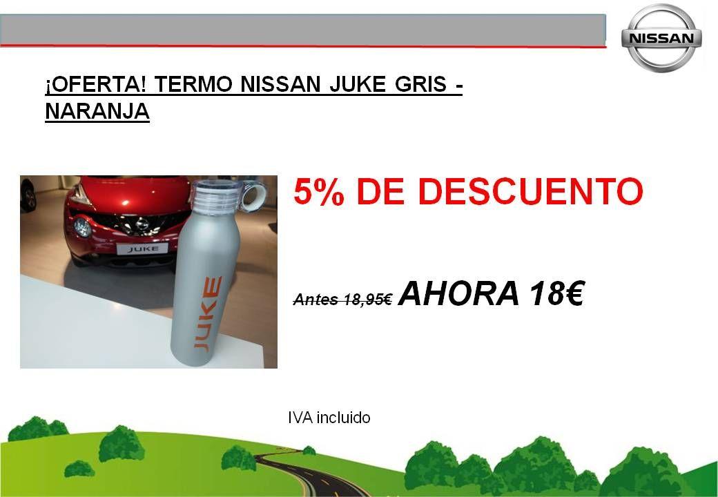 ¡OFERTA! TERMO NISSAN JUKE (GRIS-NARANJA) - 18€