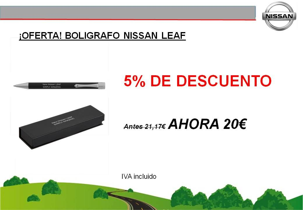 ¡OFERTA! BOLIGRAFO NISSAN LEAF - 20€