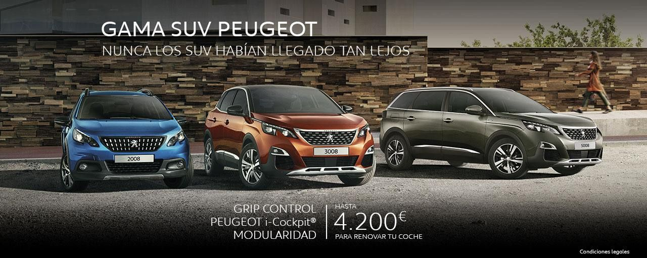 Oferta gama SUV Peugeot