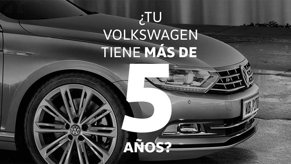Si tu Volkswagen tiene más de 5 años, la edad sí importa.