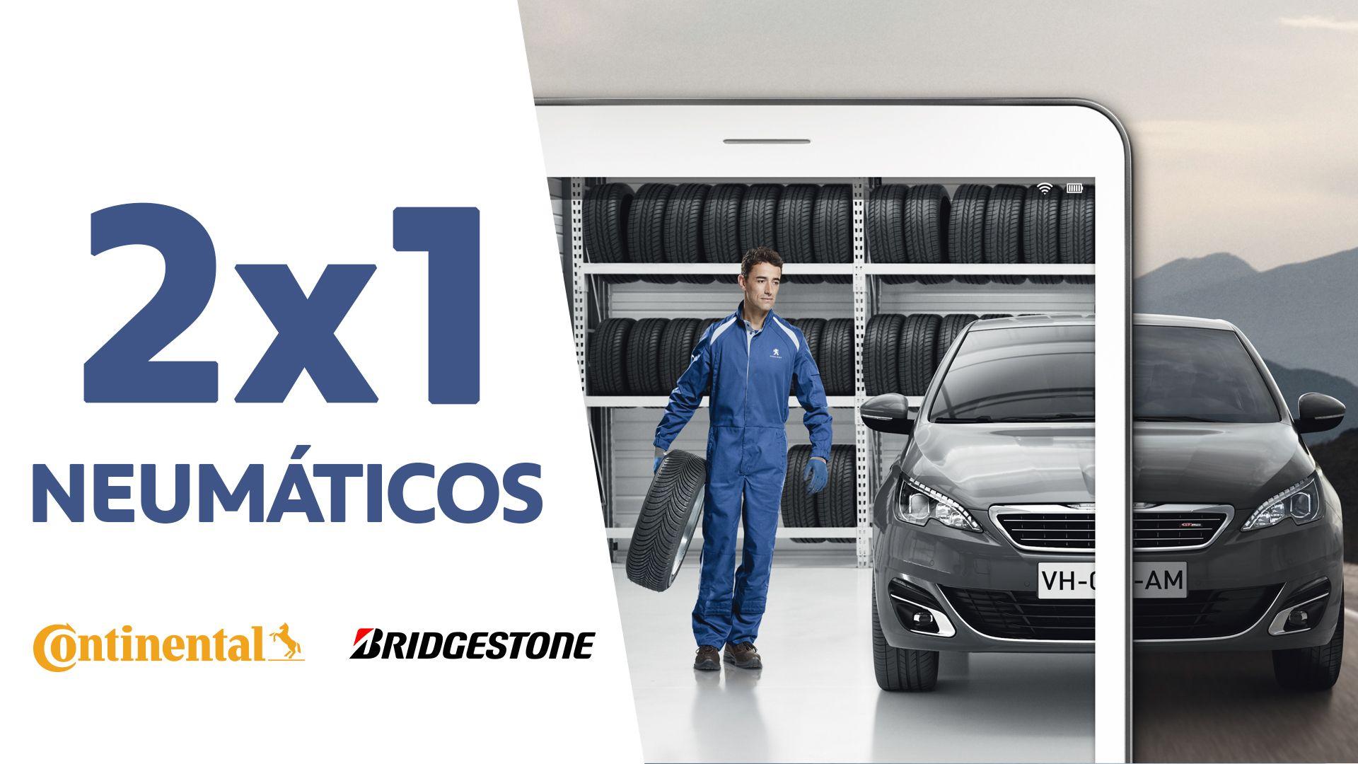 2X1 en neumáticos Continental y Bridgestone