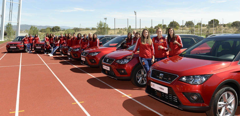 SEAT regala un coche a cada jugadora de la selección española femenina